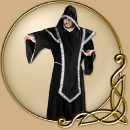 Costume - Black Hooded Robe and Tabard